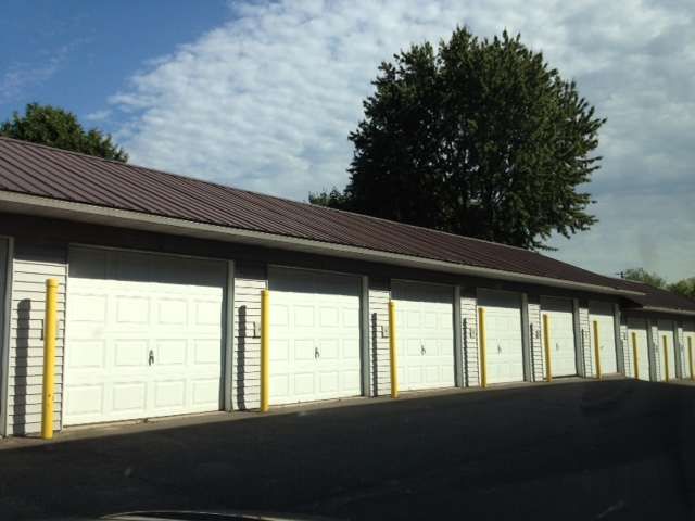 The garages.